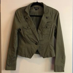 Bebe Olive, Size 8, Jacket, 98% cotton 2% spandex